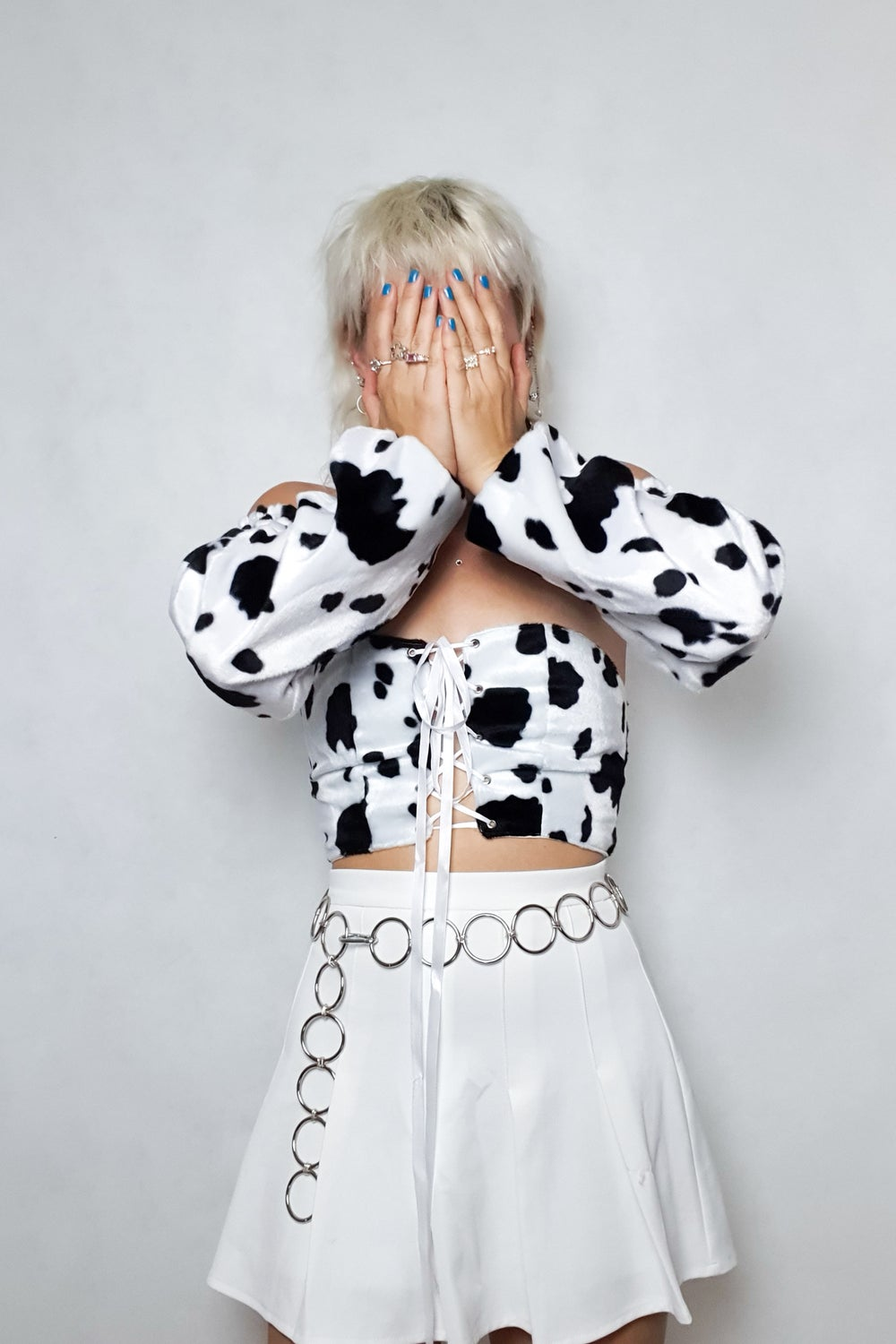 Image of Cow chain sleeve top