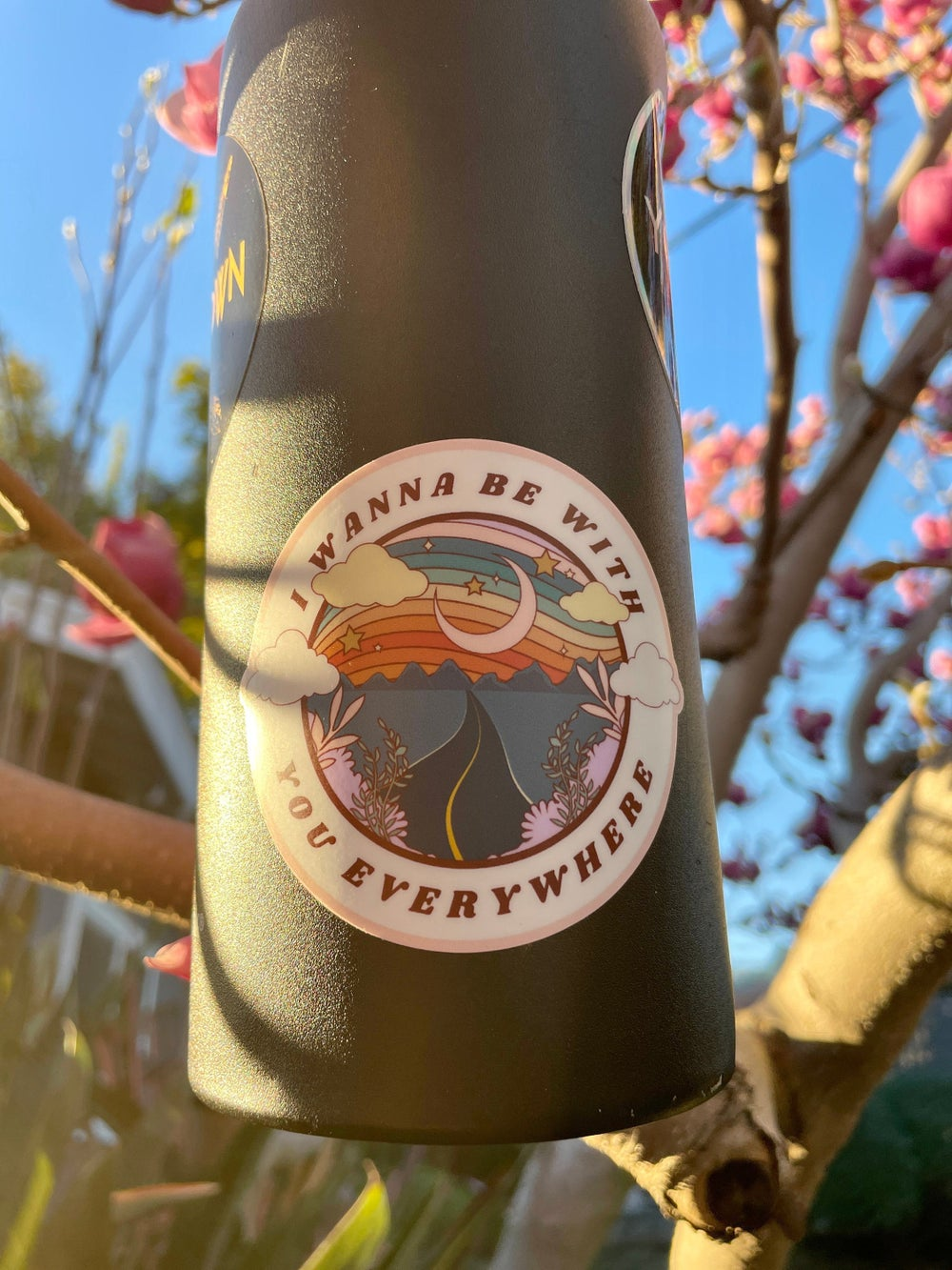 Image of Adventuring Together Laptop Sticker   Camping Water Bottle Sticker