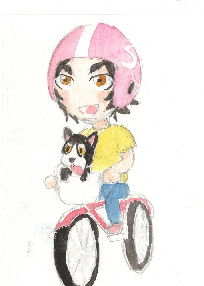 Image of Mini Margaret watercolor original 1
