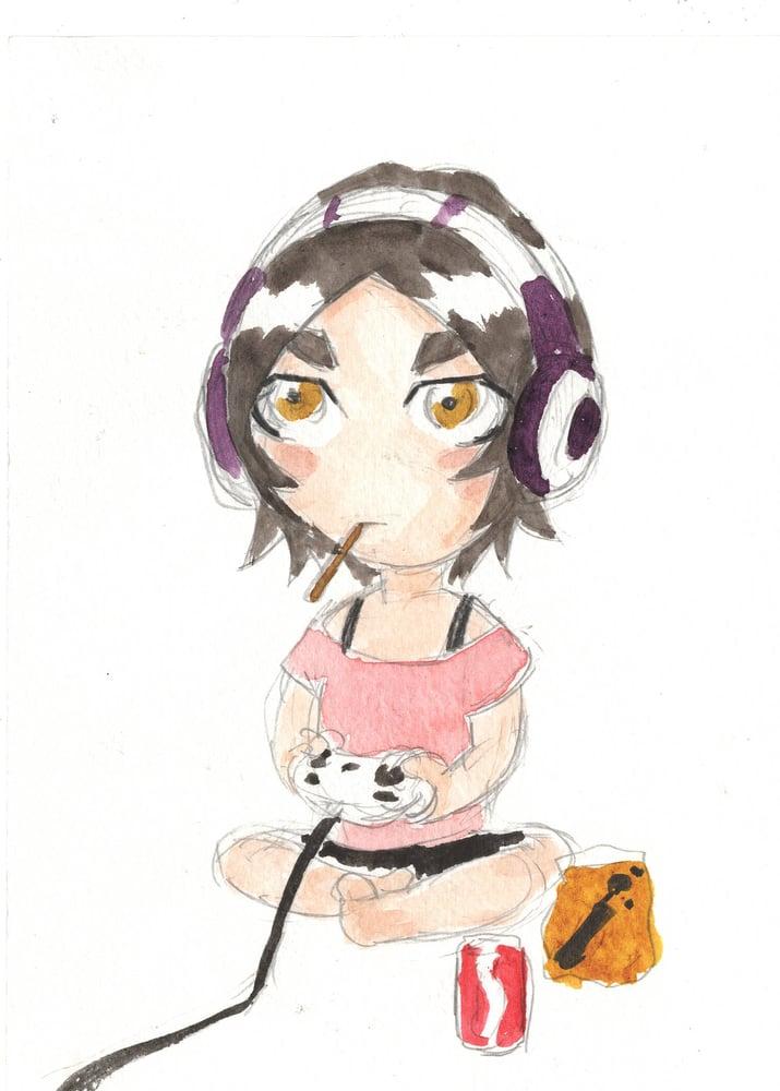 Image of Mini Margaret watercolor original 2