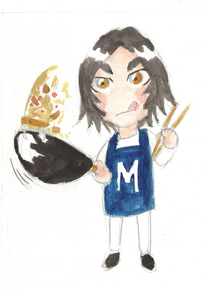 Image of Mini Margaret watercolor original 5