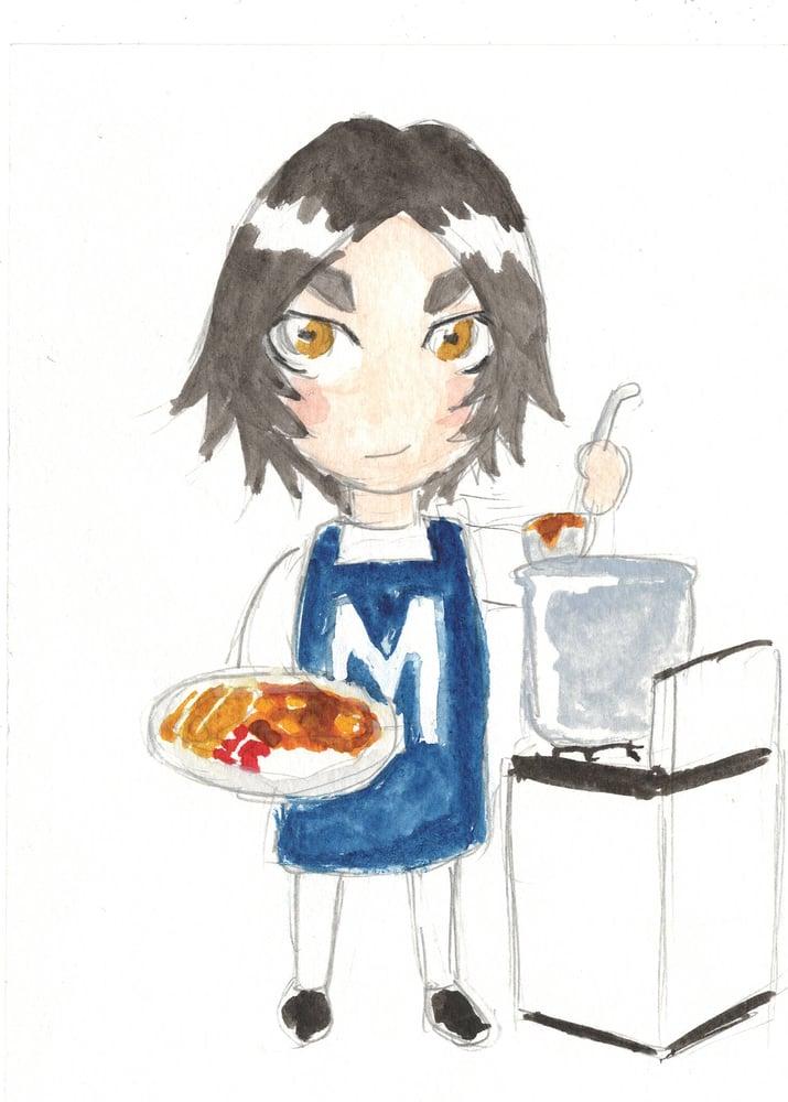 Image of Mini Margaret watercolor original 6