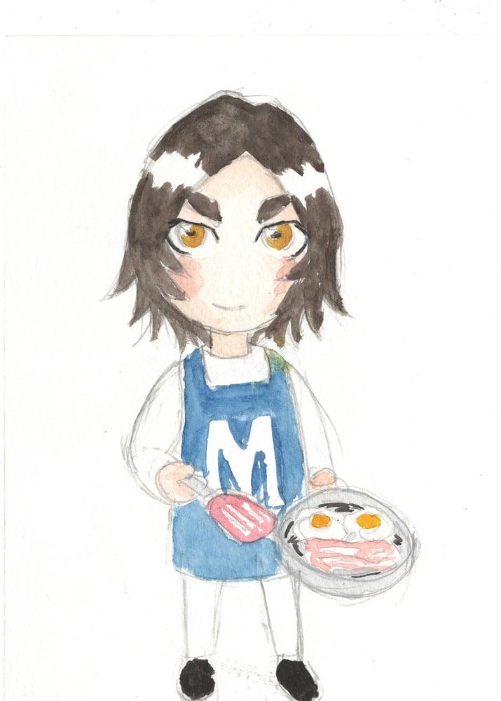 Image of Mini Margaret watercolor original 7