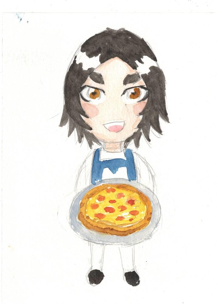Image of Mini Margaret watercolor original 8