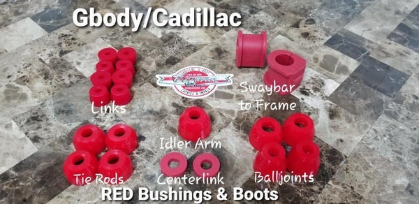 Image of GBODY / CADILLAC BRIGHT RED  BUSHING & BOOTS