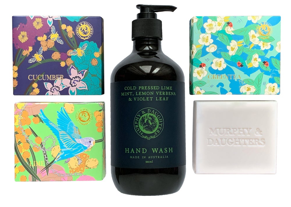 Image of Green Luxe hand washing pack - 1 hand wash pump and 3 bars of soap
