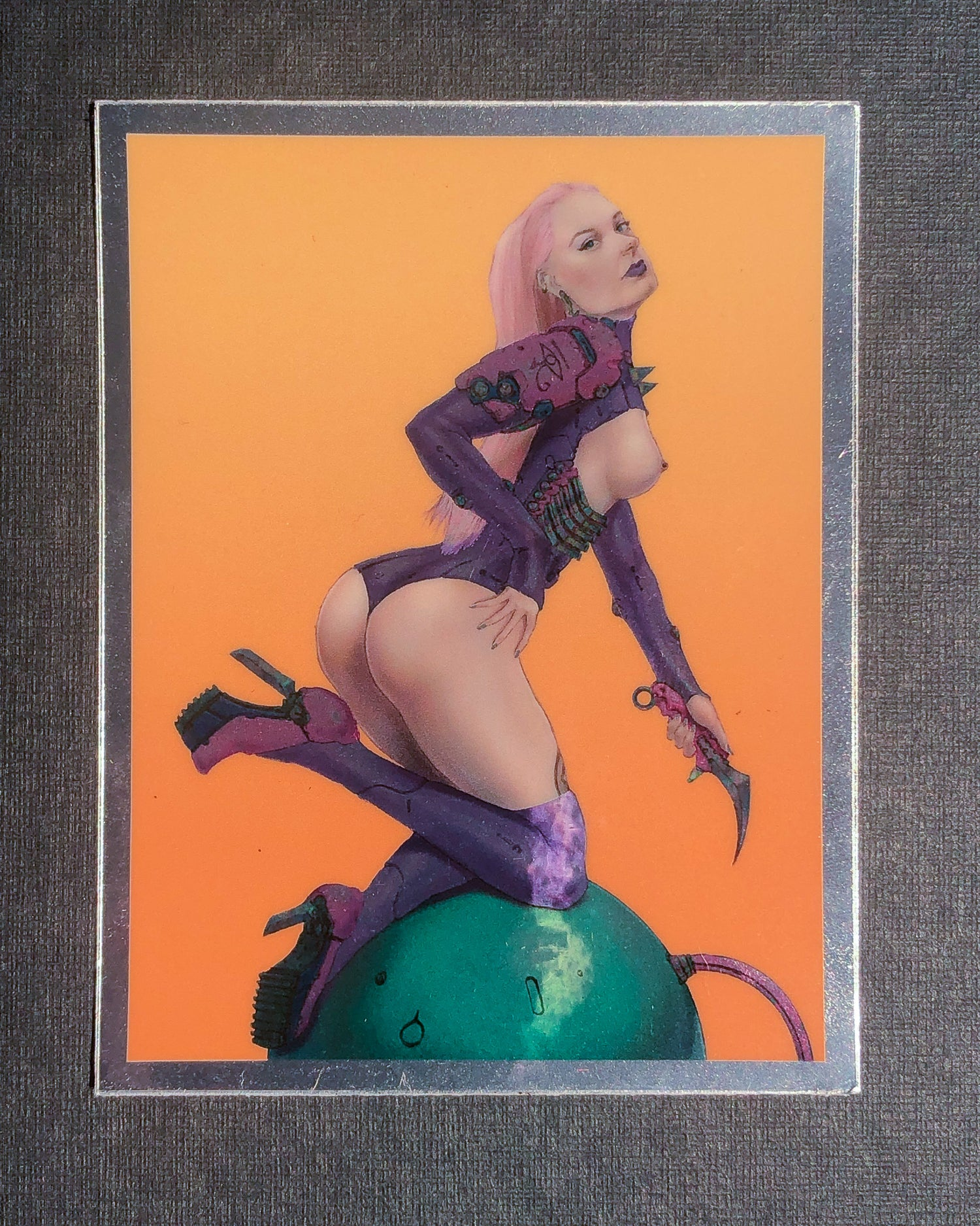 Cyberpunk chrome sticker