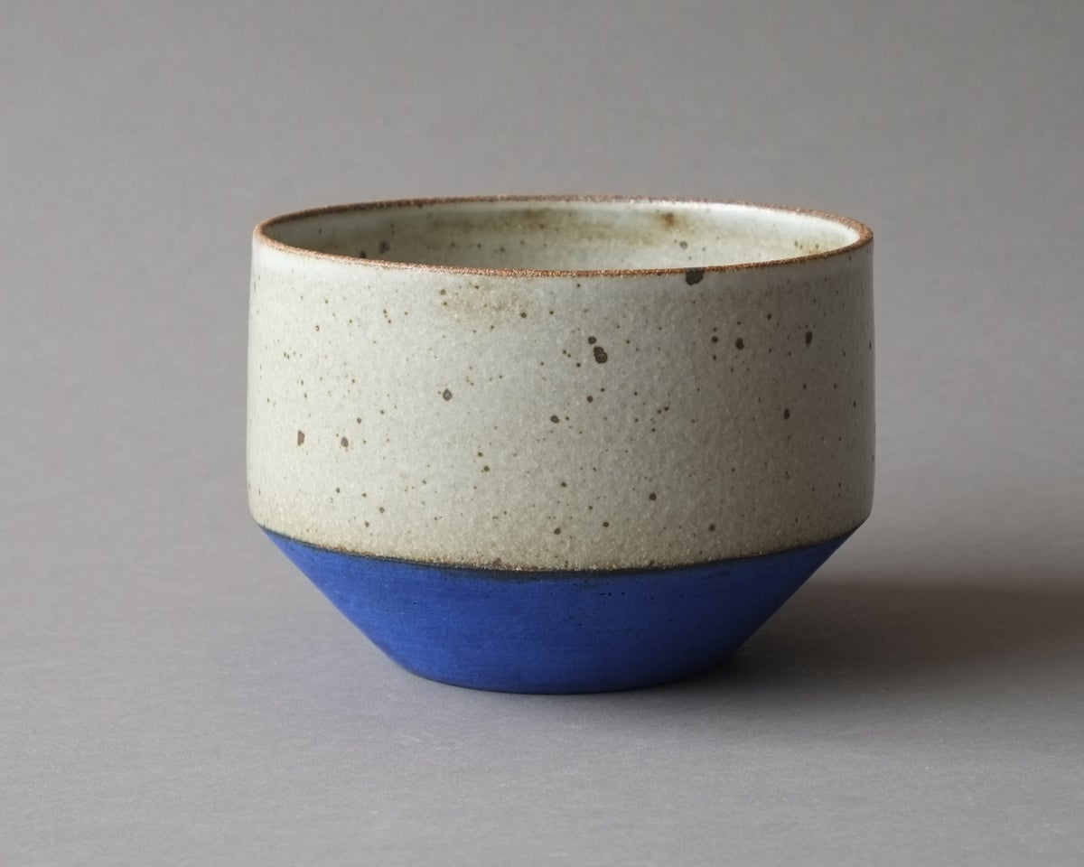 Image of Rock Planter - small blue