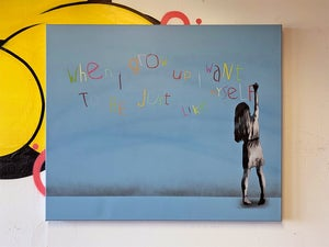 """Image of """"When I Grow Up"""" Edition of 3 on 90x75cm Deep Edge Canvas (Number 1/3)"""