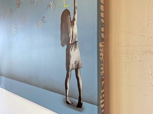 """Image of """"When I Grow Up"""" Edition of 3 on 90x75cm Deep Edge Canvas (Number 2/3)"""