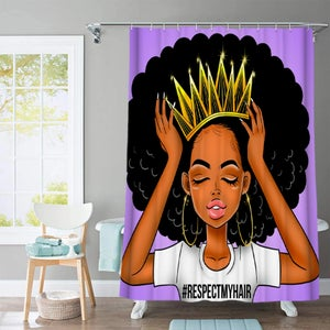 Image of RESPECT MY HAIR SHOWER CURTAIN