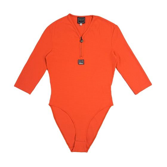 Image of Versace Jeans Couture Orange Bodysuit