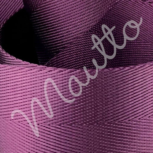 "Image of Regal Purple Adjustable Strap for Bags - Luxurious Satin Nylon, 1.5"" Wide - U Shape #16XLG Hooks"