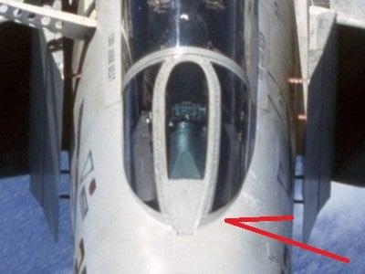 Image of McDonnell Phantom F-4B alternate front screen for Tamiya