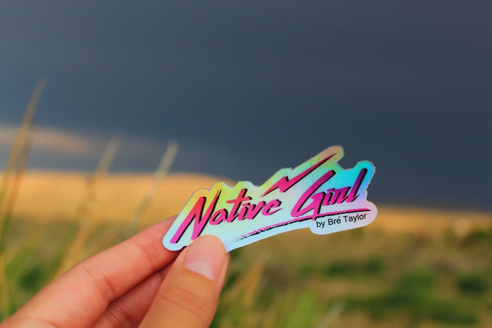 """Image of """"Native Girl"""" holographic sticker 1"""