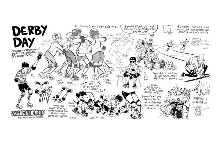 Roller Derby report print