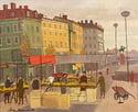 20th Century Swedish School 'Continental Street Market'