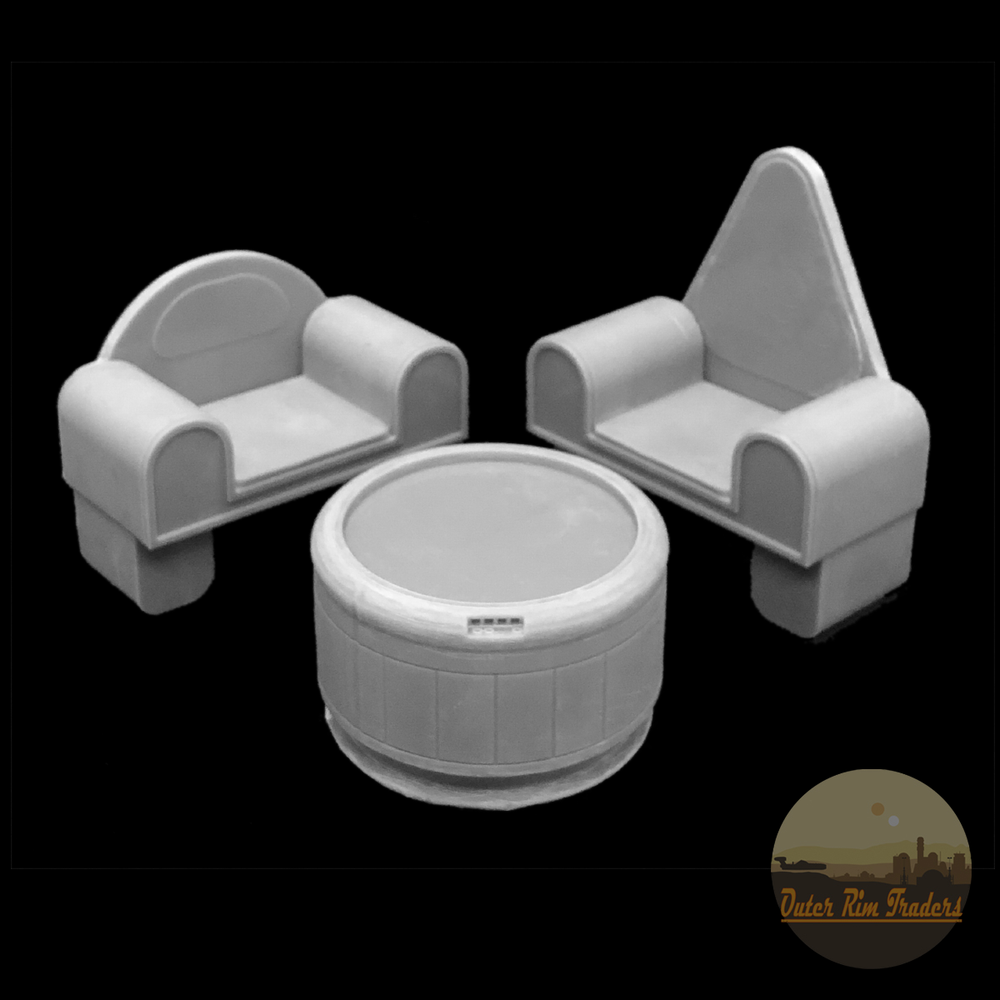 Image of Table and Chair Set modeled by Inprintcondition