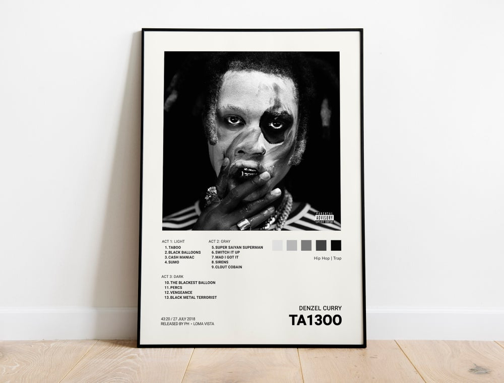 Denzel Curry - TA13OO (Taboo) Album Cover Poster