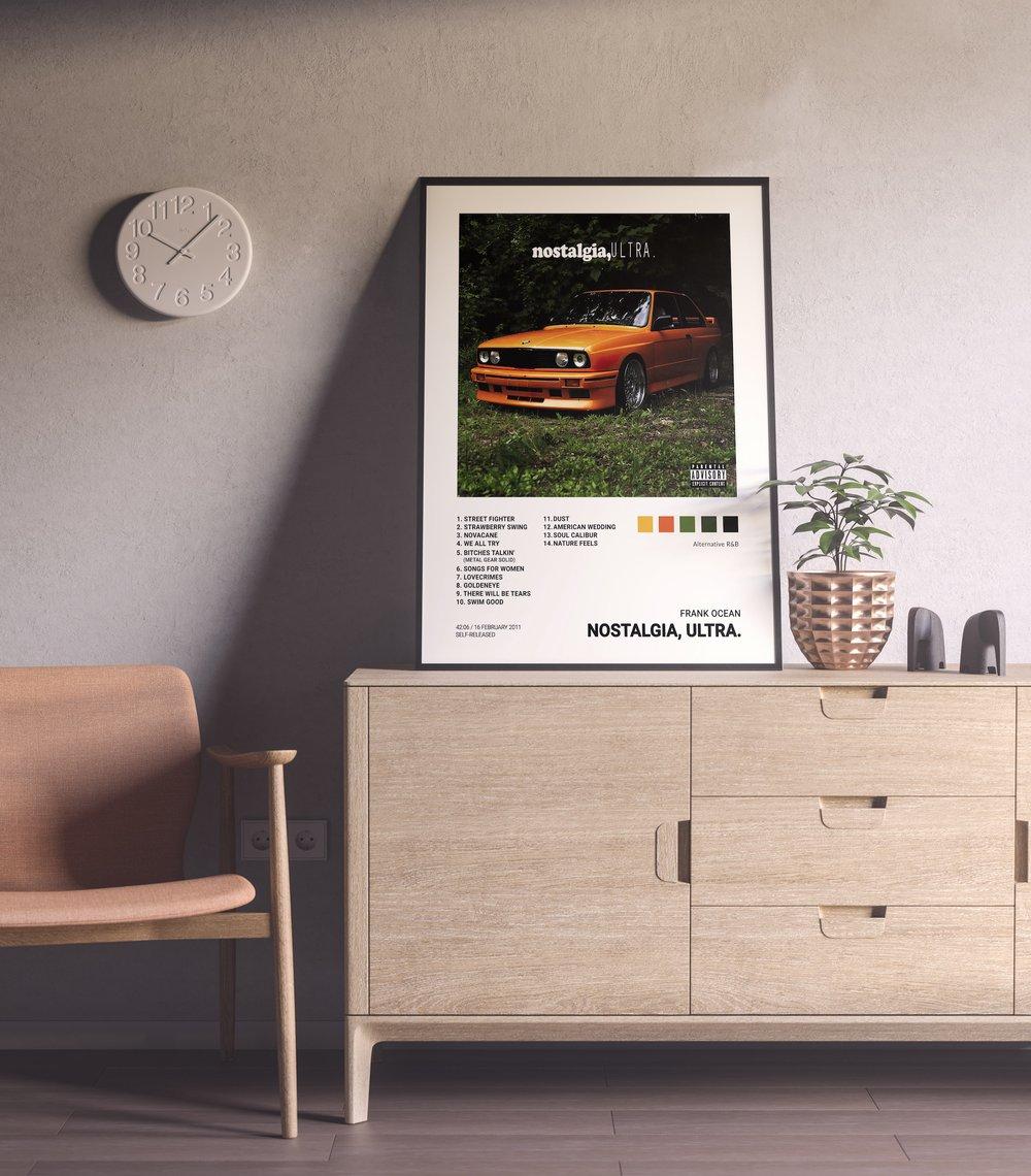 Frank Ocean - Nostalgia, Ultra Album Cover Poster