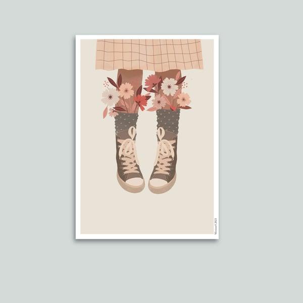 Image of Affiches Basquets en fleurs