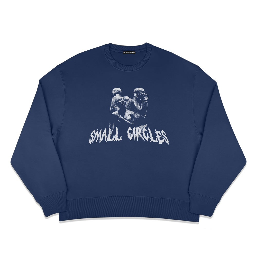 Image of Small Circles Sweater (Midnight Blue)