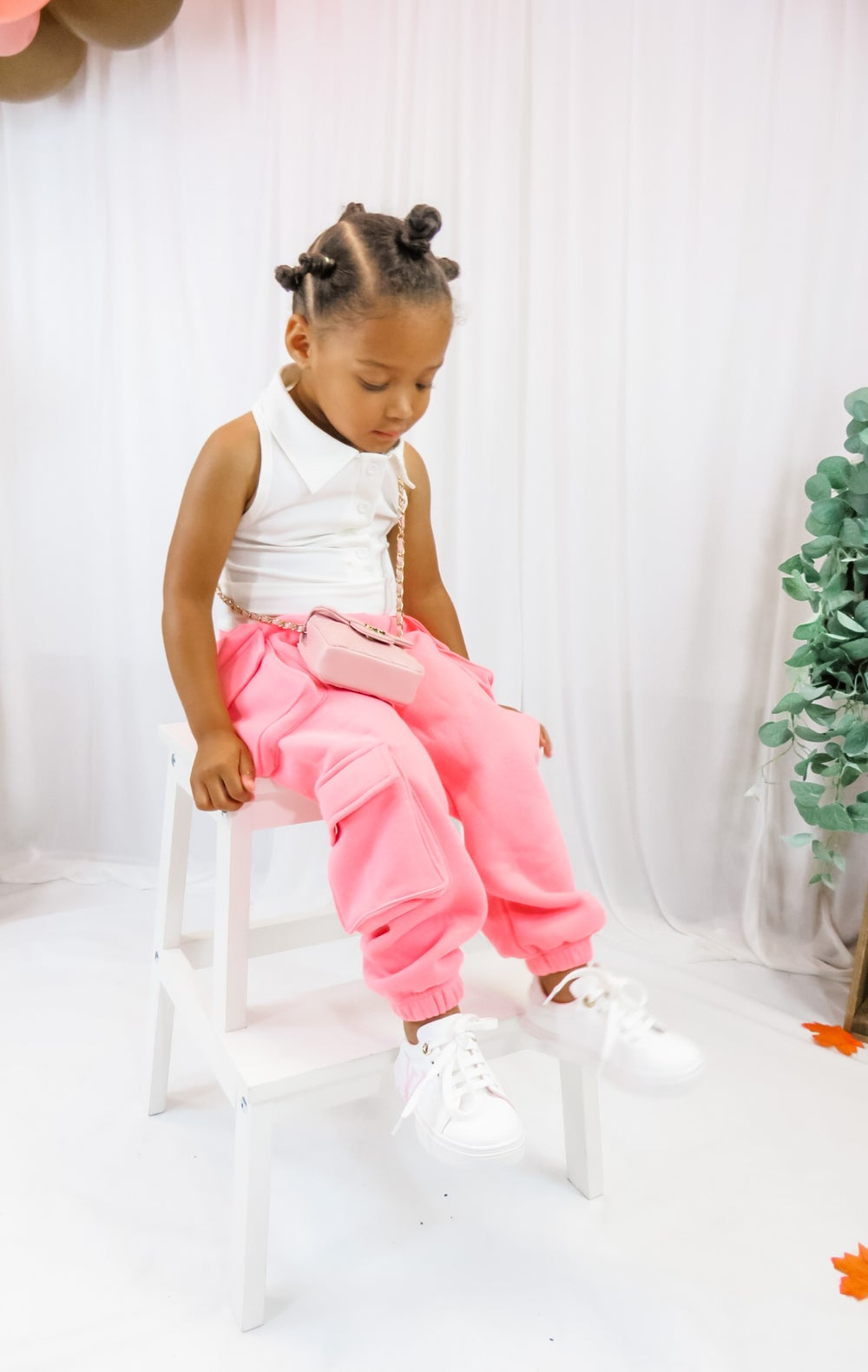 Image of Pink Camellia Pocket Joggers