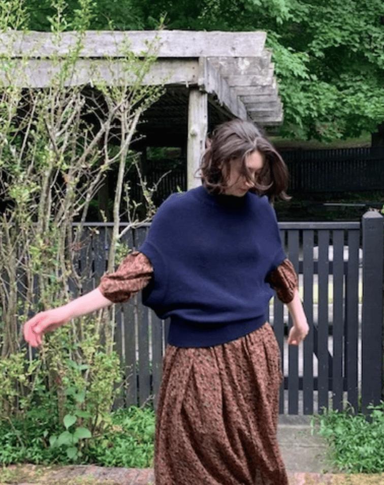 Image of La Fee Parisienne Bubble Sweater (two colors)