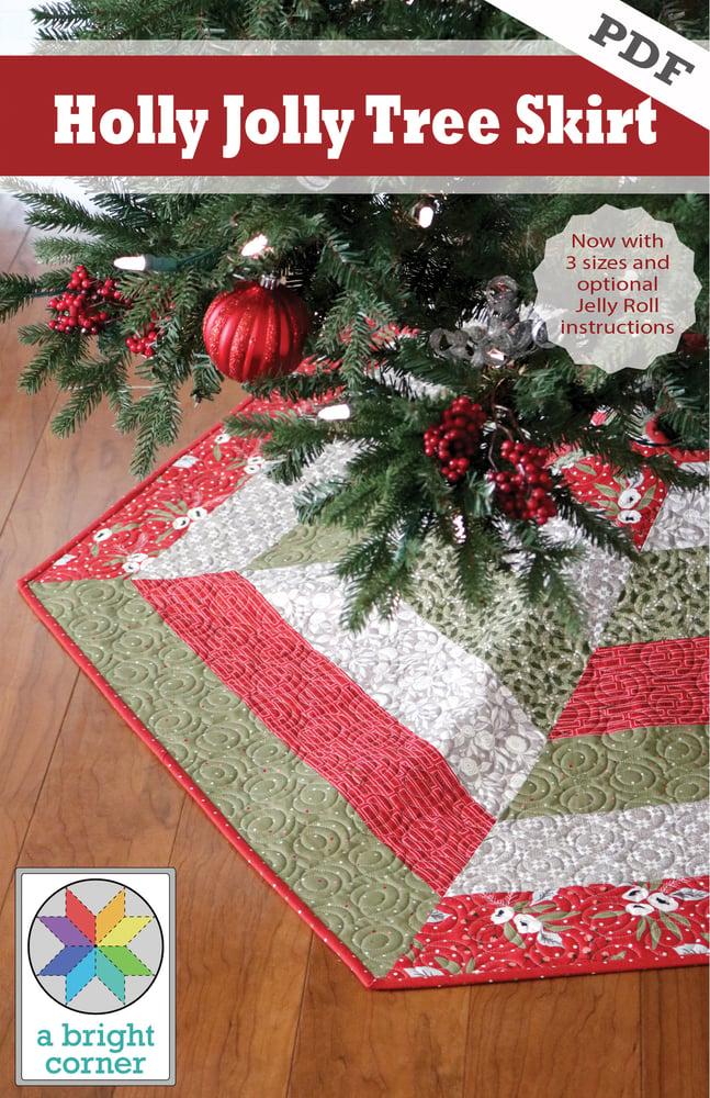 Image of Holly Jolly Christmas Tree Skirt Pattern - PDF Version