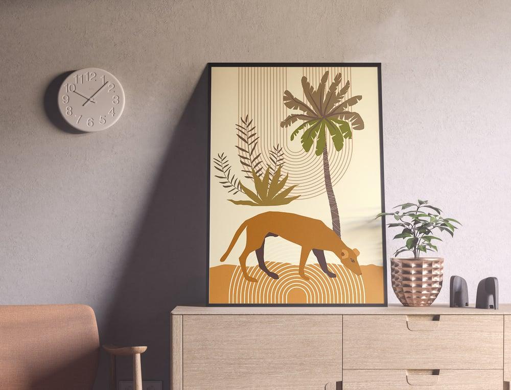 Gauguin inspired Botanical Modern Boho Wall Art Print