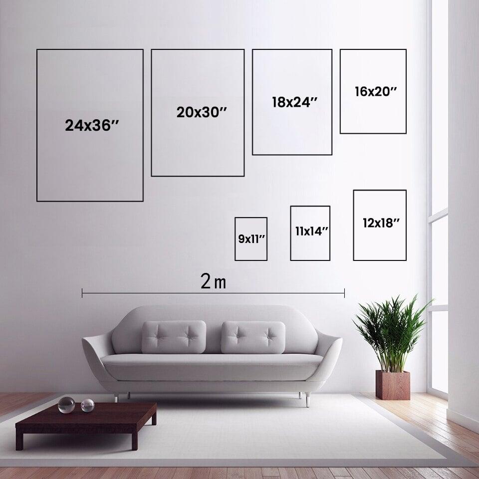 Modern Geometric Abstract Poster Print