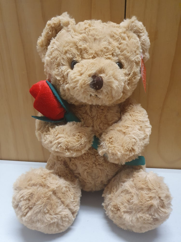 Image of Bear with Red Rose 25cm