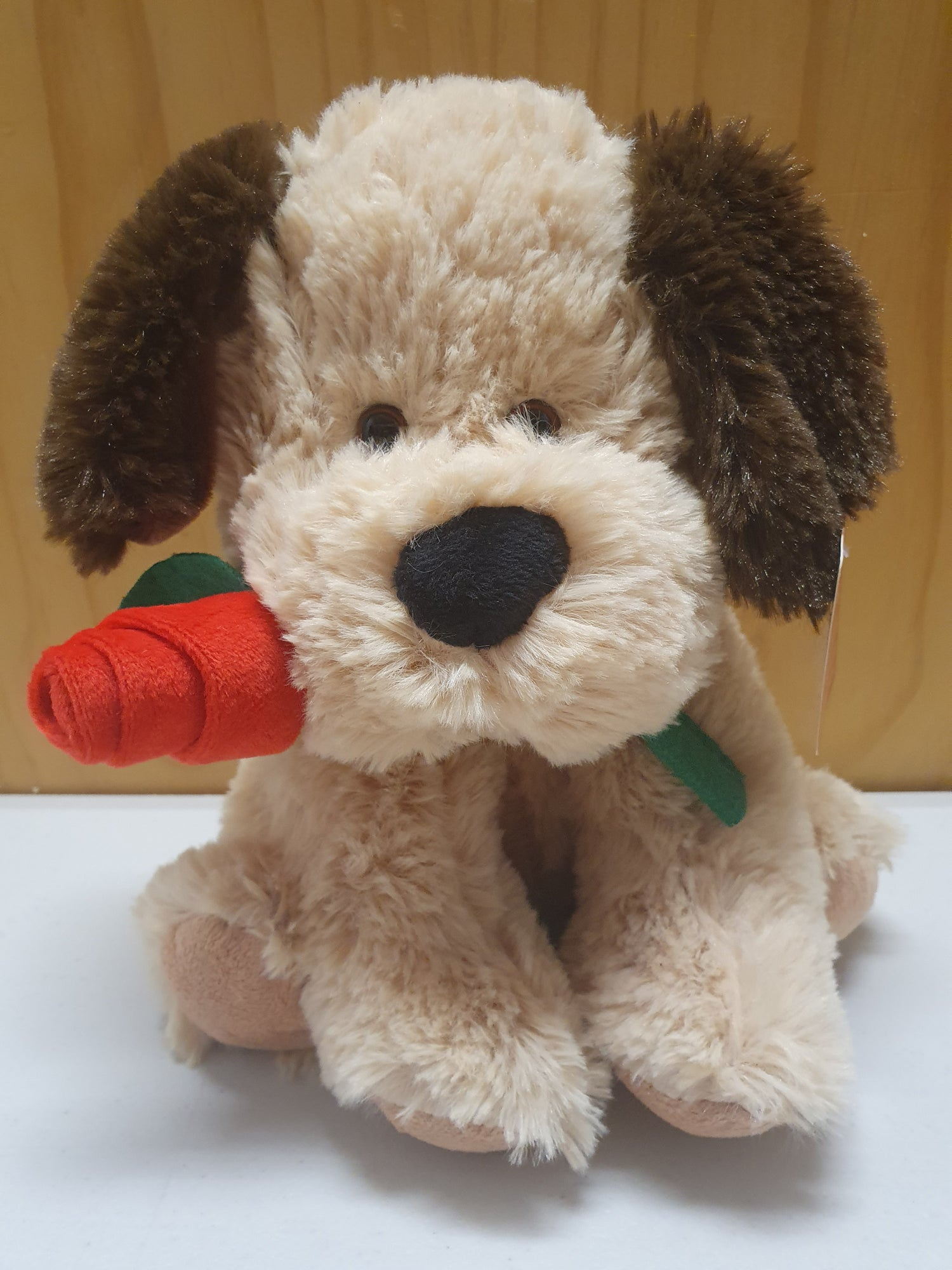 Image of Dog with Rose 22cm