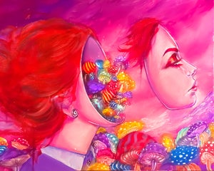 """Image of <font color=""""red"""">Clearance </font>""""Daydreaming"""" Original Painting"""