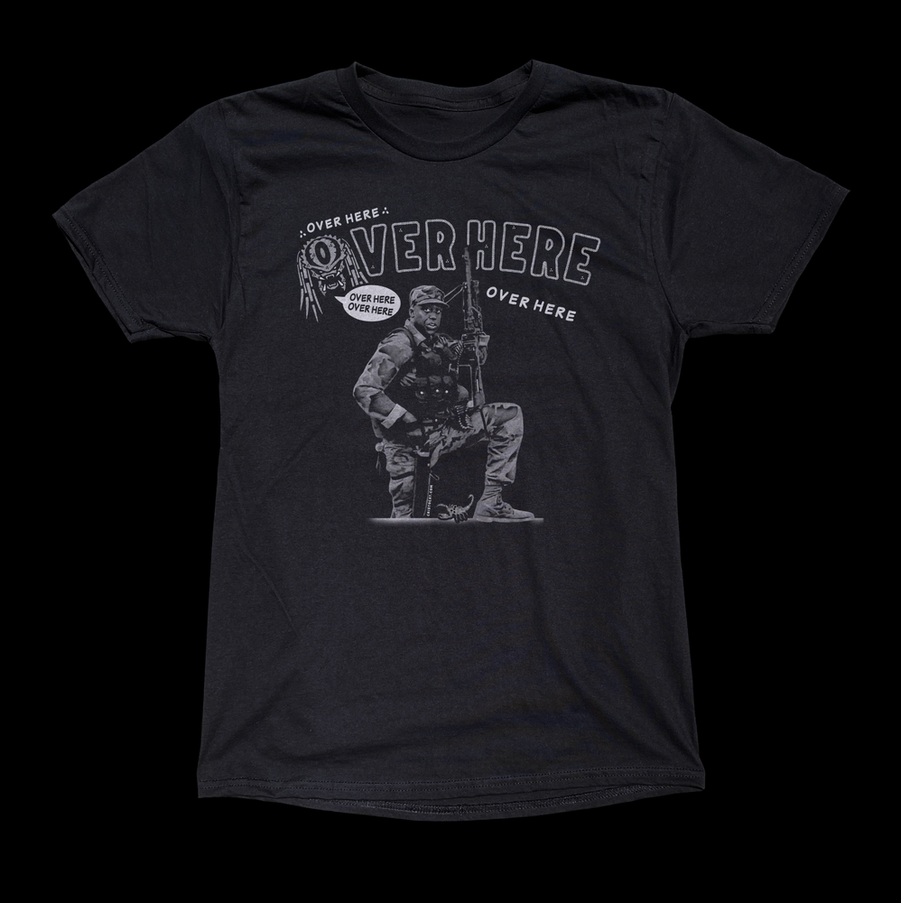Image of OVER HERE, OVER HERE, BLACK TEE