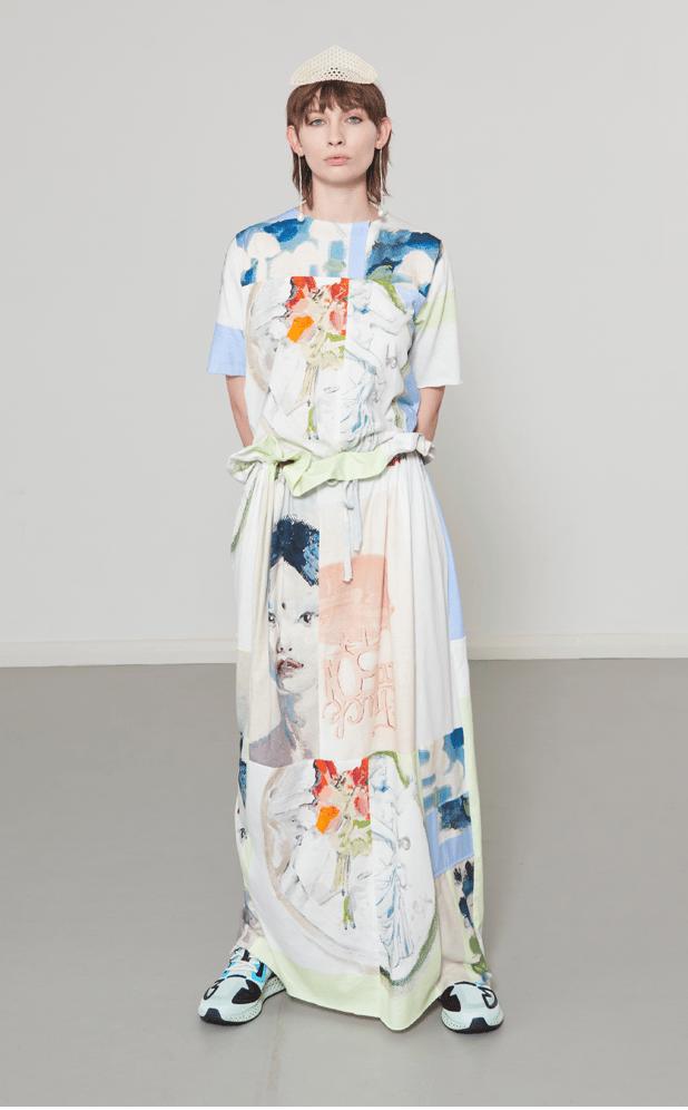 Image of Verner Salon Patchwork Dress
