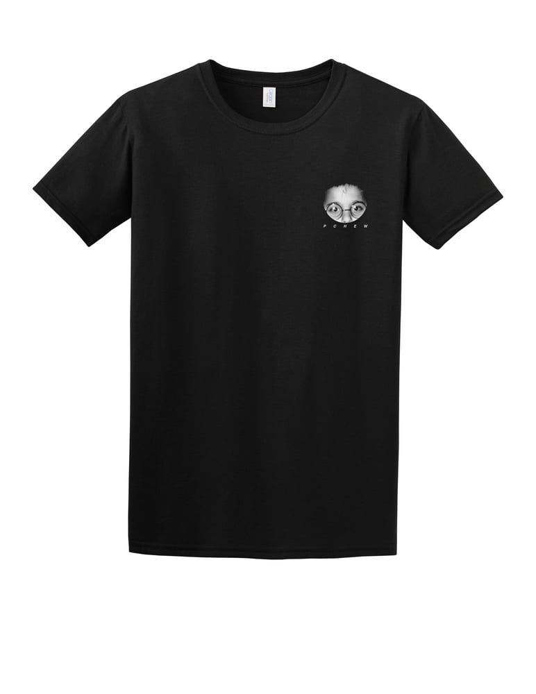 Image of Black T-shirt 'PCHEW'