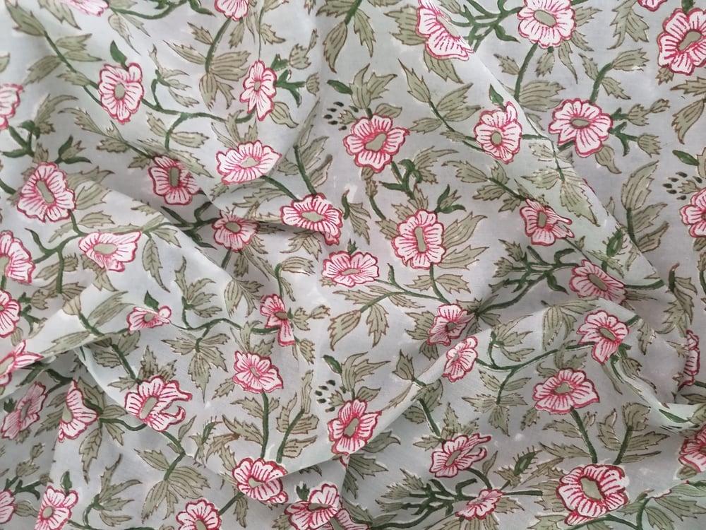 Image of Namasté fabric fleurs de coton