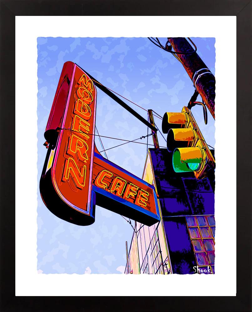 Modern Cafe, Pittsburgh PA Giclée Art Print (Multi-size options)