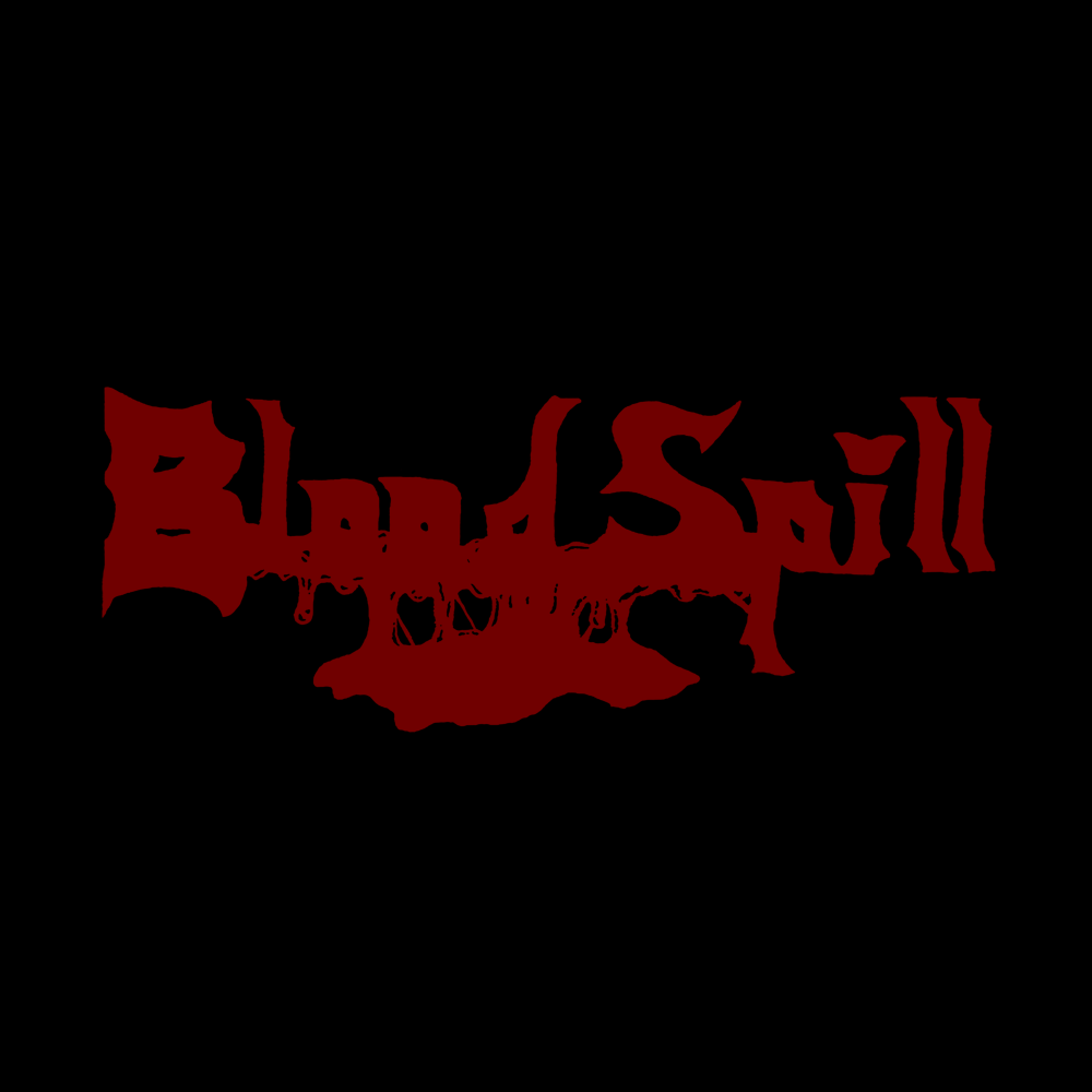 Image of BLOOD SPILL - LOGO ll (RED PRINT)