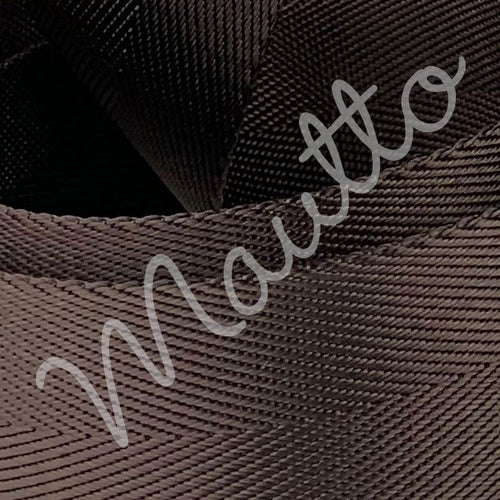 """Image of Dark Brown Adjustable Strap for Bags - Luxurious Satin Nylon, 1.5"""" Wide - U Shape #16XLG Hooks"""