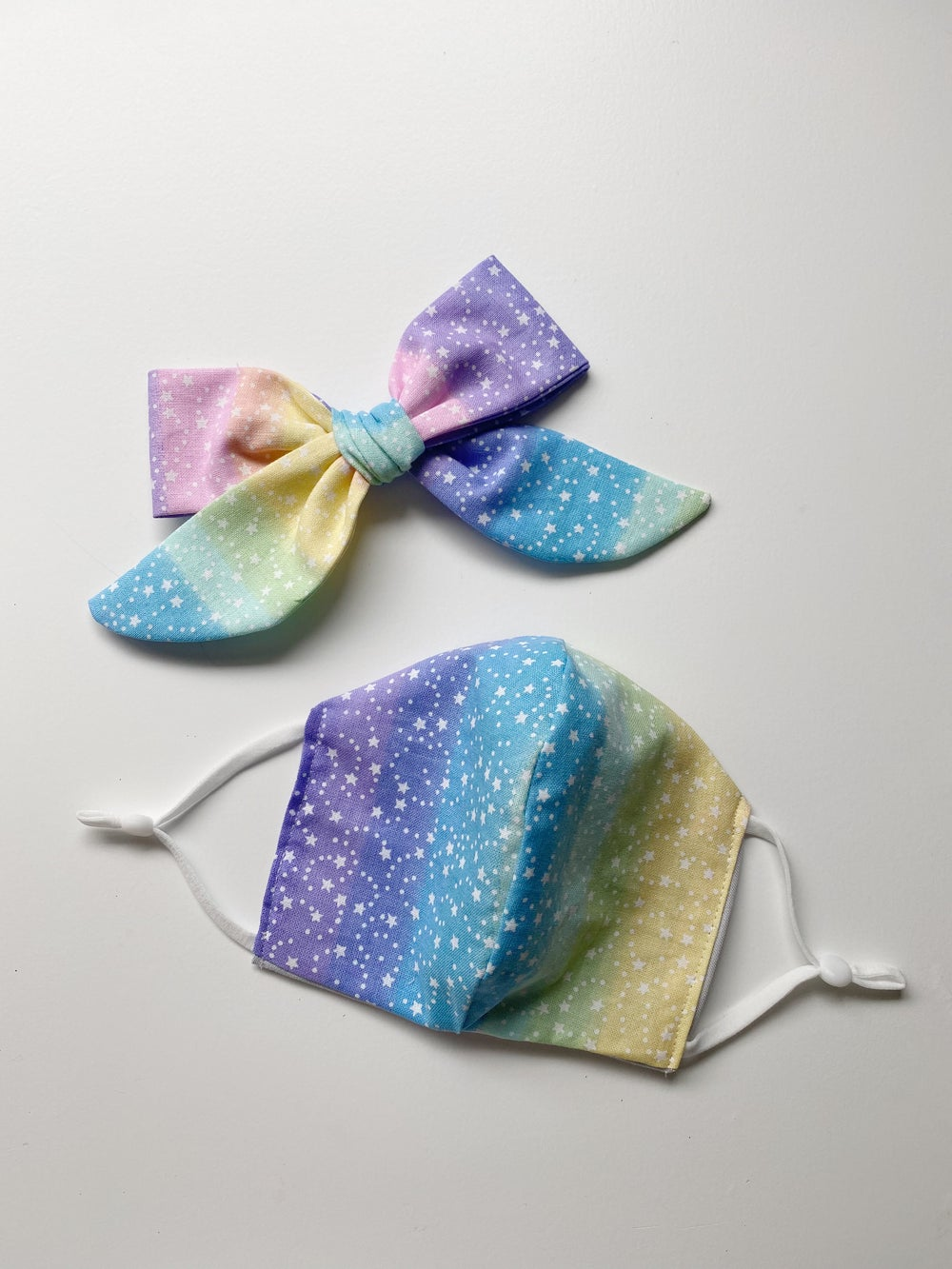 Image of Face Mask & Bow Set   Star Dream