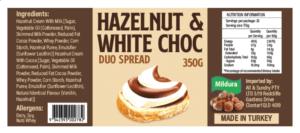 Image of Mildura Hazelnut And White Choc Duo Spread 350G