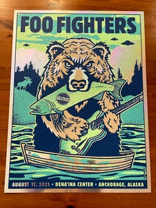 Image of Foo Fighters BEAR 2021 Anchorage AK - Sparkle Foil Variant 1