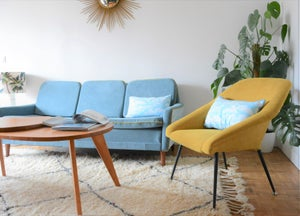 Image of Fauteuil coquille jaune