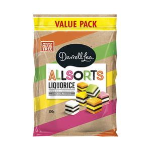 Image of Allsorts Liquorice Value Pack 450g