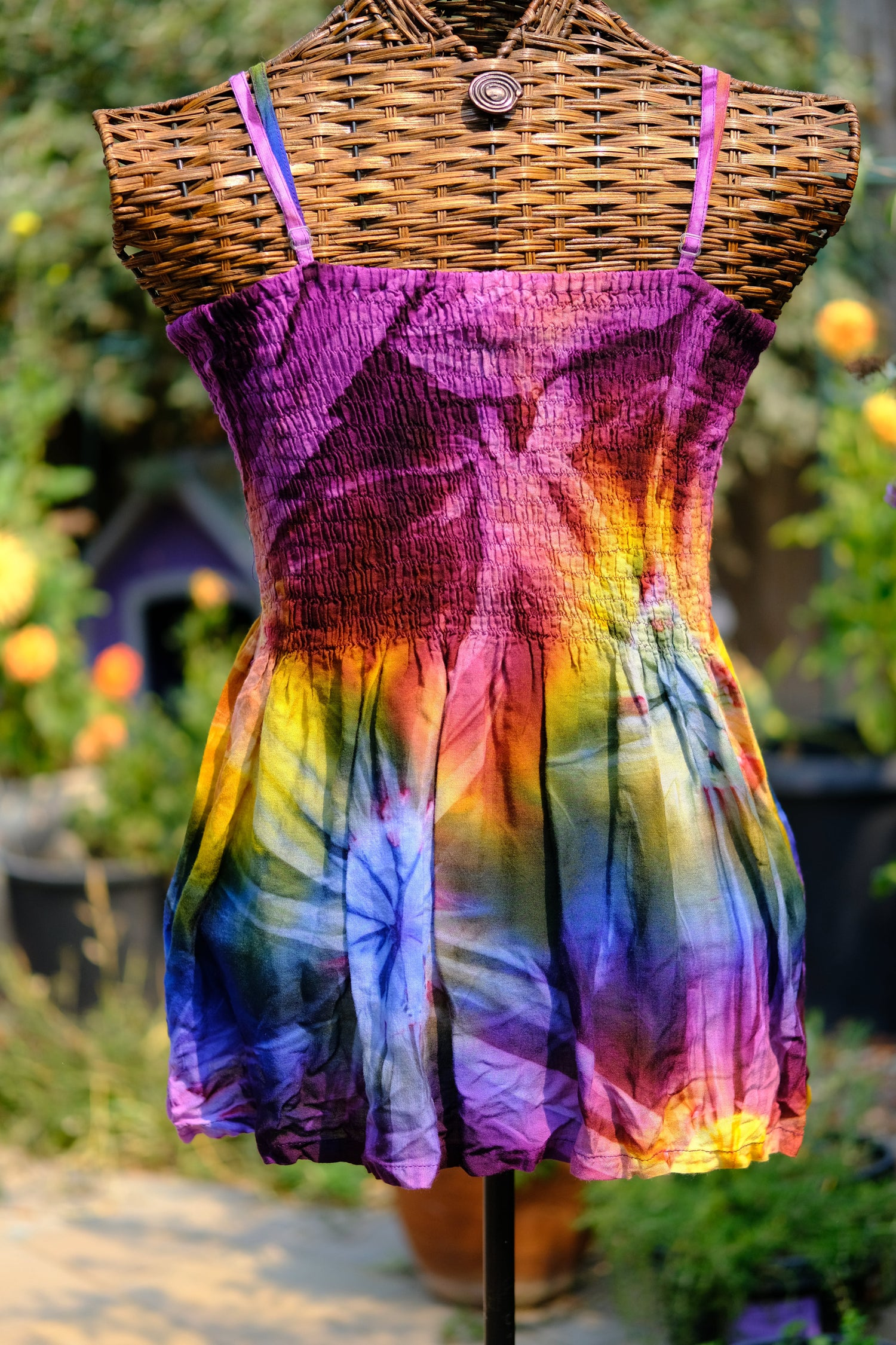 CONVERTIBLE TOP/SKIRT BABYDOLL gn/blue/purp large