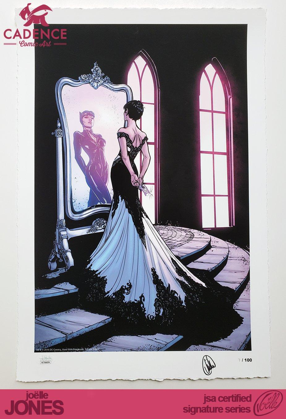 "Image of ""The Dress"" Fine Art Catwoman Print - Joëlle Jones Signature Series (JSA Certified)"