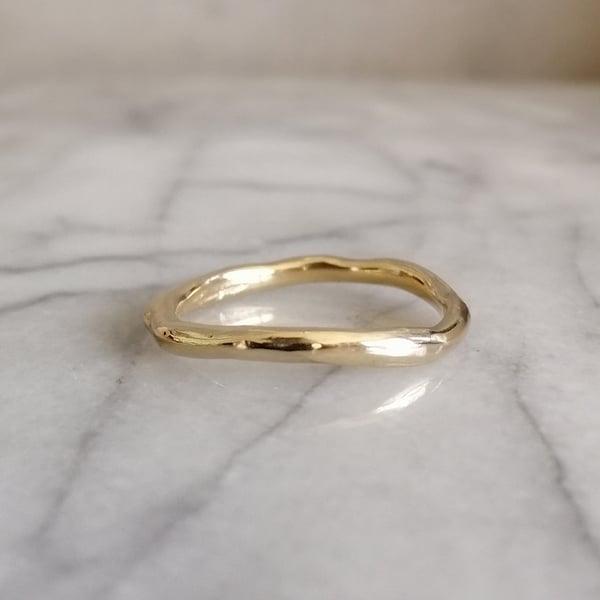 Image of Organic gold ring