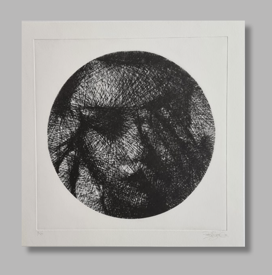 Image of 'Pause' etching, by PERSPICERE (2021)